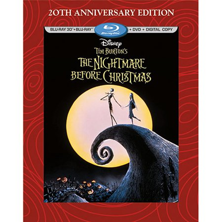 Tim Burton's The Nightmare Before Christmas (20th Anniversary Edition) (Blu-ray 3D + Blu-ray + DVD + Digital Copy) (Halloween Music Nightmare Before Christmas)