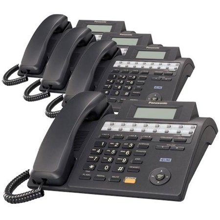 Panasonic KX-TS4100B 4-Line Corded Phone W  Wall Mount Included 4 Pack by