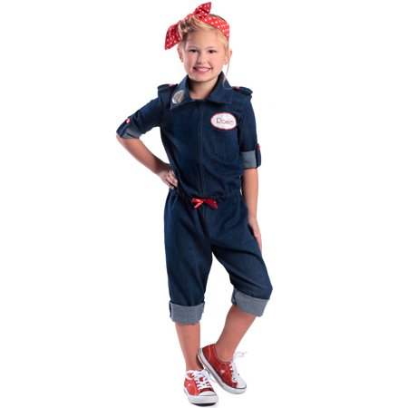 Rosie the Riveter Child Costume - Rosie The Riveter Costumes