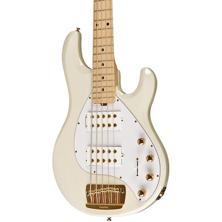 ernie ball music man stingray 5 hh 5 string electric bass india ivory maple fretboard. Black Bedroom Furniture Sets. Home Design Ideas