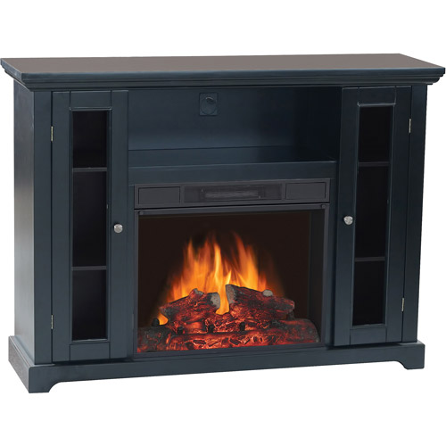 """Electric Media Fireplace, for TVs up to 50"""", Black"""