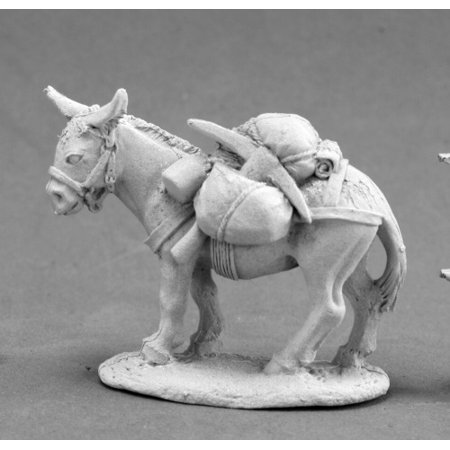 - Reaper Miniatures Pack Donkey #03671 Dark Heaven Legends Unpainted Metal Figure