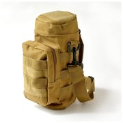 Military Tactical Hiking MOLLE Zipper Water Bottle Pouch Bag Carrier