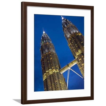 Petronas Towers, World's Tallest Buildings, Kuala Lumpur, Malaysia Framed Print Wall Art By Glenn (Kuala Lumpur Tallest Building)