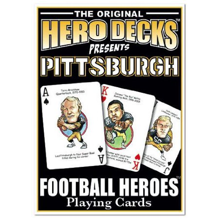 Football Heroes Playing Cards - Pittsburgh, Officially Licensed By Channel Craft