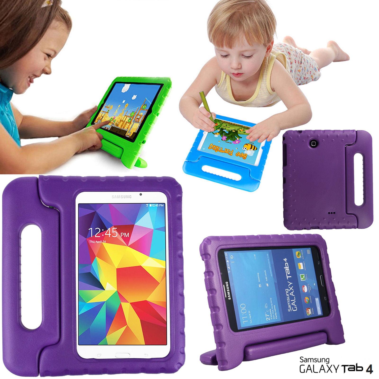 Galaxy Tab 4 7.0 T230 Kids Case by KIQ Child-Friendly Fun Kiddie Tablet Cover EVA Foam For Samsung Galaxy Tab 4 7.0 Inch SM-T230 (Black)