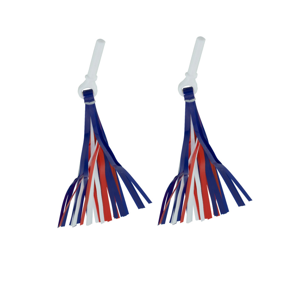 PVC Streamers/Tassels for Bicycle Bike Grips Red/White/Blue