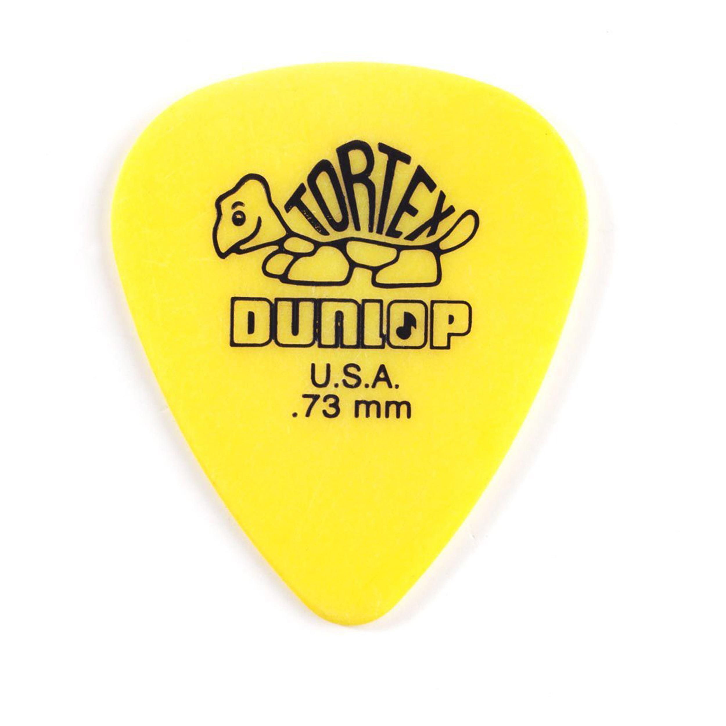 Dunlop 418P .73 Tortex Standard 12 Pack Picks by Jim Dunlop