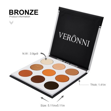 Eyeshadow Palette for Women Clearance! Womens 9 Colors Highly Pigmented Pro Pressed Shimmer Matte Eyeshadow Pallets for Makeup, UCOWQ221#11 Beauty Cosmetic High Natural Eye Shadow for Women (Natural Eye Makeup)
