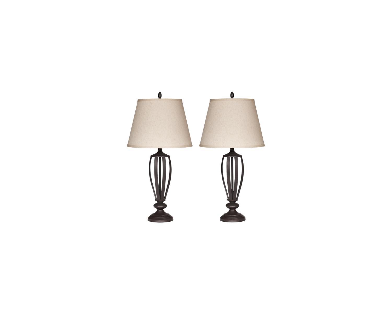 Signature Design By Ashley Mildred Bronze Finish 30 Metal Table Lamp Set Of 2 Walmart Com Walmart Com