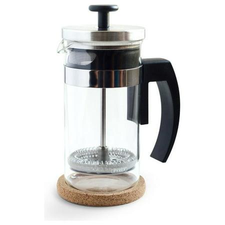 Tea Coffee Maker French Press : Stainless Steel European Glass Small French Press Coffee Maker and Tea Press - Walmart.com