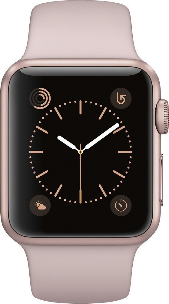 Refurbished Watch 38mm Rose Gold Aluminum Case Pink Sand Sport Band Series 1 MNNH2LL A by Apple