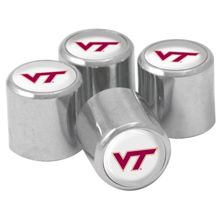 Virginia Tech Hokies Metal - NCAA Virginia Tech Hokies Metal Tire Valve Stem Caps, 4-Pack, Officially Licensed NCAA Product By Stockdale