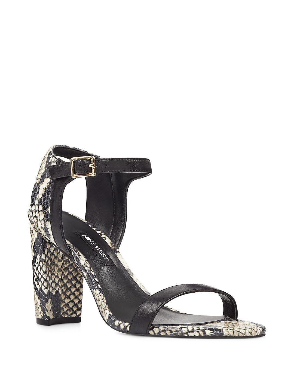84ea57d05ad9 Nemble Snake Print Leather Ankle-Strap Sandals - Walmart.com