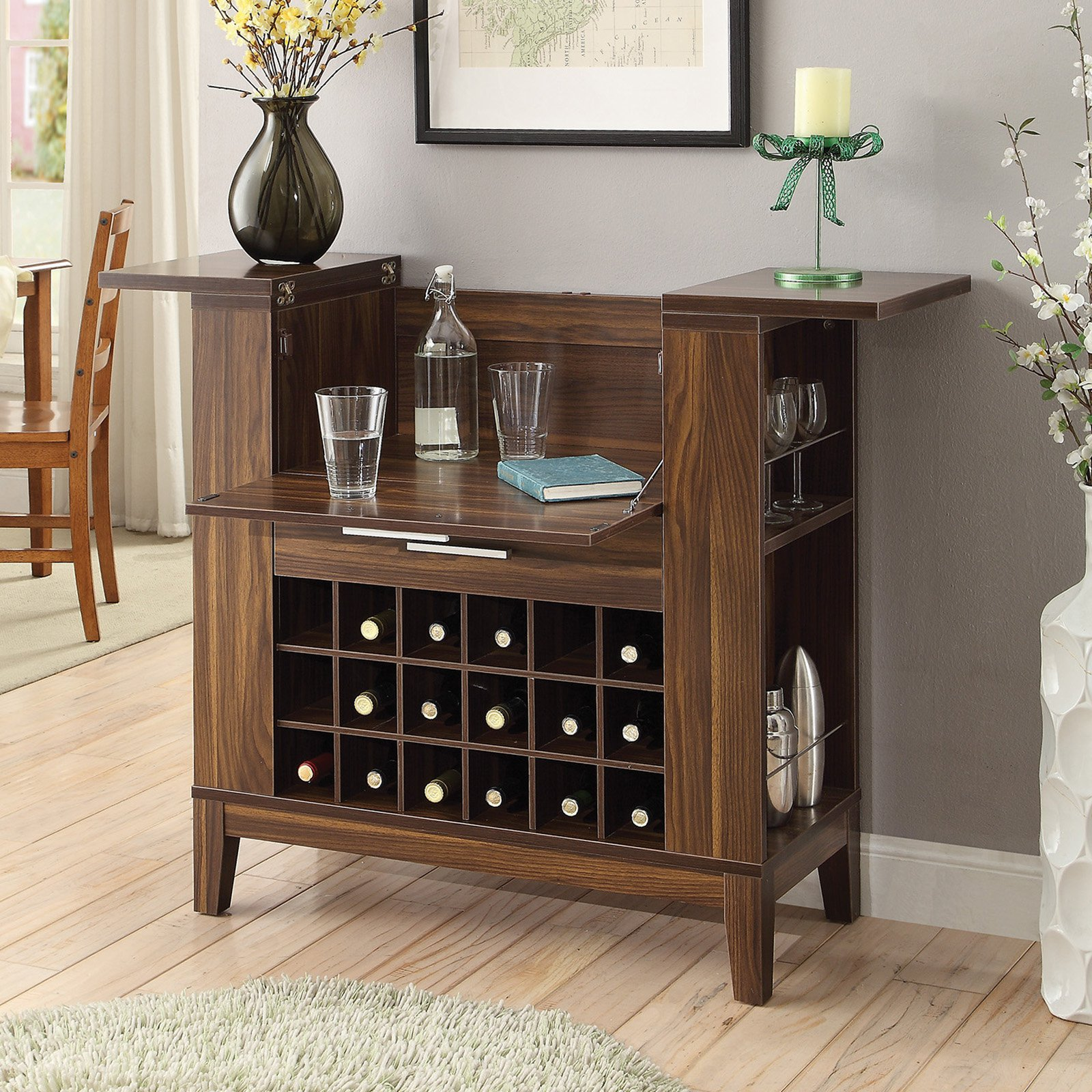 Coaster Company Bar Unit, Dark Walnut