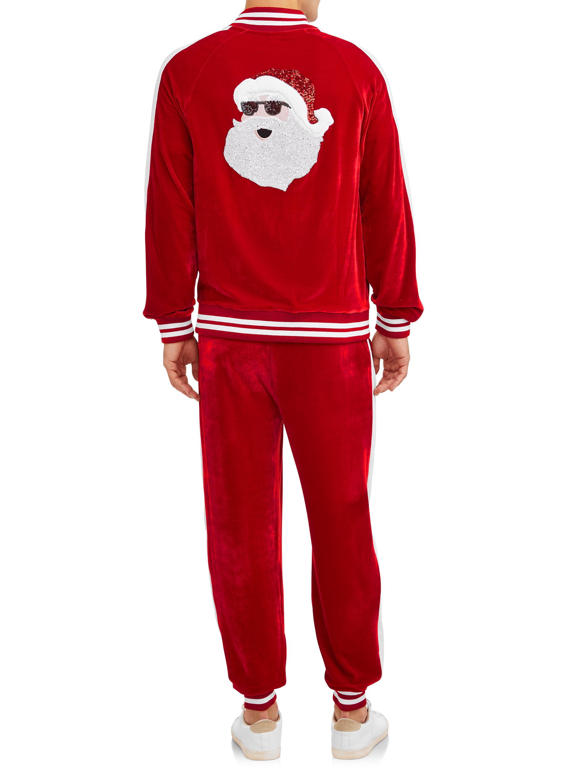 Holiday Fun Christmas 2-piece Pajamas Sparkly Santa w// Gifts