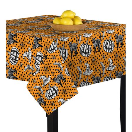 The Holiday Aisle Mcdonald Halloween Icons Tablecloth - Mcdonalds Halloween Mcnuggets