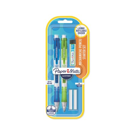 Paper Mate Clearpoint Mechanical Pencils Starter Set, 0.9mm, HB #2, 5 Count