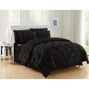 8 Pieces Complete Bed in a Bag Comforter Set, Full/Queen, Black