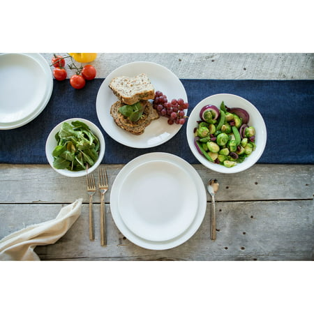 Corelle Classic Winter Frost White 16-Piece Dinnerware Set