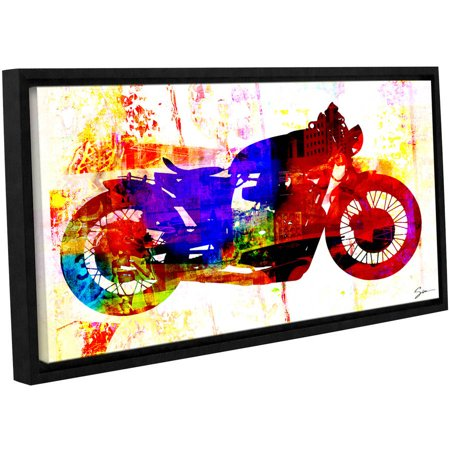 Greg Simanson  Moto Iii  Floater Framed Gallery Wrapped Canvas