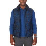Nautica Mens Reversible Camo Quilted Vest, blue, Medium