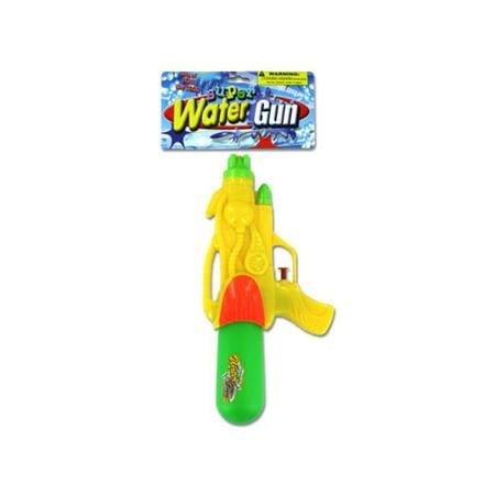 Bulk Buys KT221-48 Plastic Super Water Gun - Yellow  Green and Orange