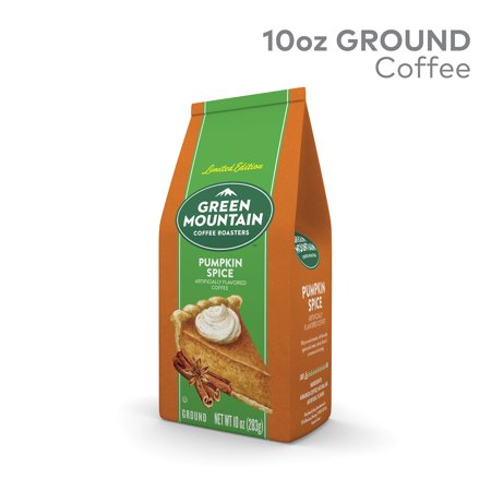 Green Mountain Coffee Roasters Pumpkin Spice, Ground Flavored Coffee, Medium Roast, Bagged 10oz