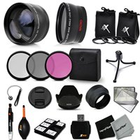 Essential 58mm Accessory Kit for CANON EOS Rebel T6 T6i T6S T5i T5 T4i T3i T3 T2i EOS 80D, 70D EOS 60D 5D 5D Mark III, EOS 1200D 1100D 100D SL1 EOS M3 M2 M Xsi XTi XT DSLR Cameras