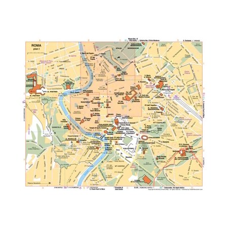 Michelin Official Rome Italy Map Art Print Poster -