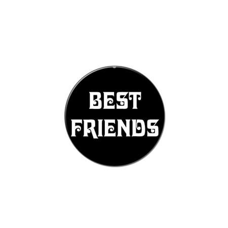 Best Friends On Black Lapel Hat Pin Tie Tack Small