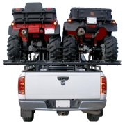 Black Widow HAUL-ALL-B Double ATV Carrier Rack & Ramps for Pickup Beds
