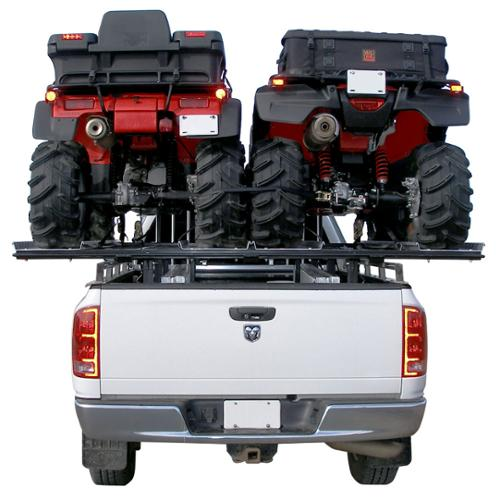 Double ATV Carrier Rack & Loading Ramps for Pickup Trucks with 6 or 8 ft. Beds