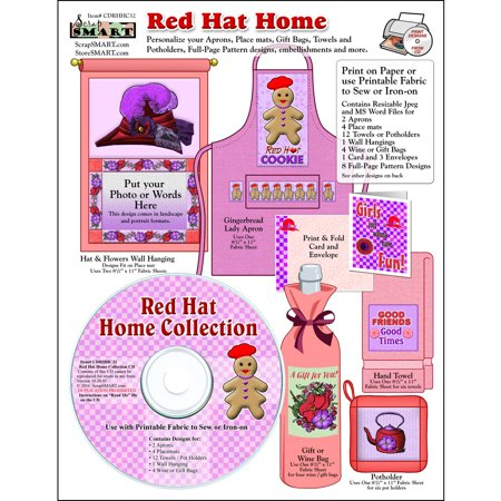ScrapSMART Red Hat Home Collection CD-ROM: Fabric Designs, Embellishments and