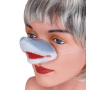 Star Power Animal Costume Accessory Shark Nose, White Red Grey, One-Size