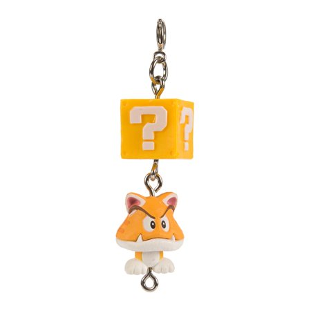 Super Mario 3D World Collection Cat Goomba Capsule Keychain - Safety Cat Keychain