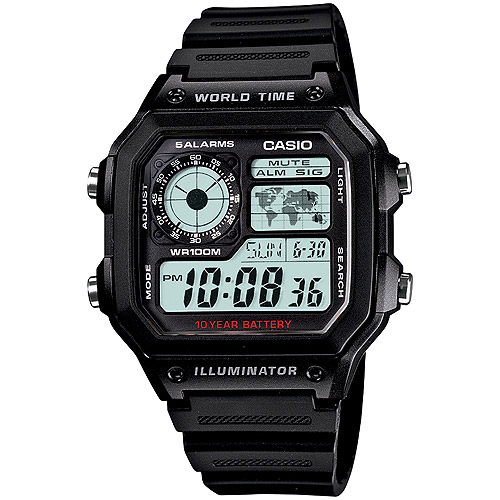 Casio Men's World Time Watch, Resin Strap