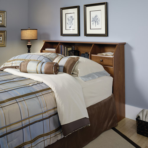 Sauder Shoal Creek Collection Full/Queen Bookcase Headboard, Oak