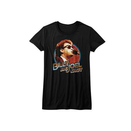 Billy Joel Singer-Songwriter Composer Pianist Big Shot Black Juniors T-Shirt Tee - image 1 de 1