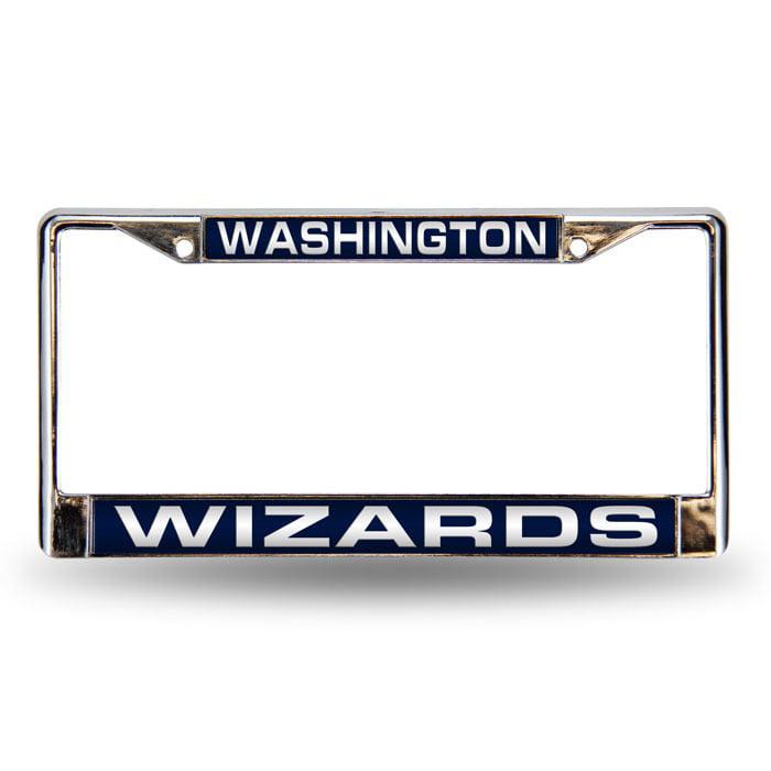 Washington Wizards Laser Chrome License Plate Frame