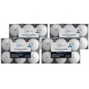 Mainstays 6-Pack Floaters, Unscented White, Set of 4