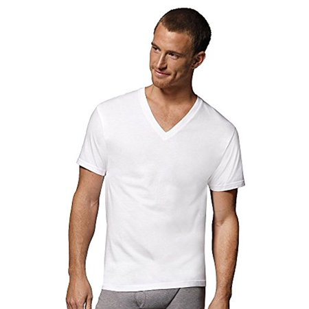 55ae04ea7ca6 excell - excell 3 Pack Mens Plain White V-Neck T-Shirts Tagless Soft Cotton  (Small, White V-Neck) - Walmart.com