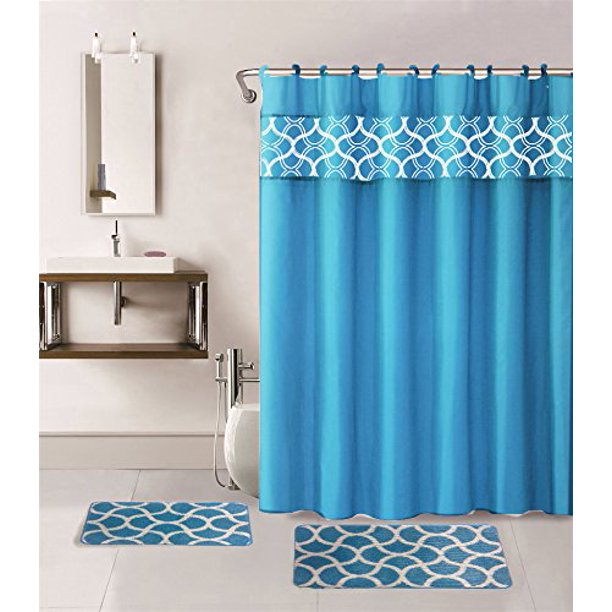 2 Non Slip Bath Mats Rugs Fabric Shower, Bathroom Sets With Shower Curtain And Rugs