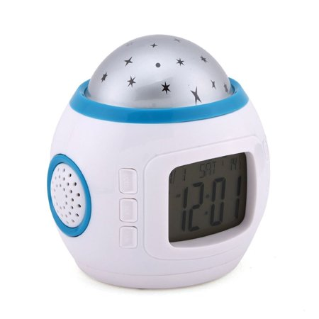 2019 New Children Room Sky Star Night Light Projector Lamp Alarm Clock sleeping