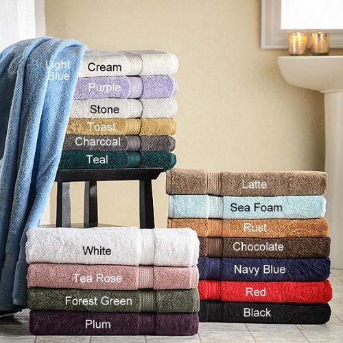 Superior Collection Luxurious 900 GSM Egyptian Cotton Bath Towels (Set of 2) CHARCOAL