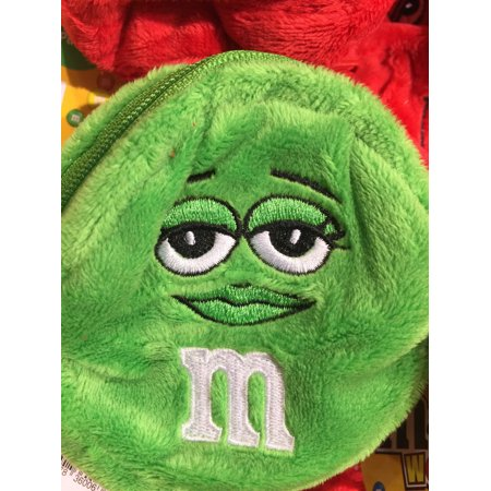 M&M's World Green Character Coin Purse Plush New with Tags