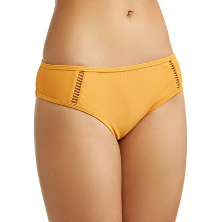 Bay Bikini Bottom - Time and Tru Women's Ladder Trim Bikini Swimsuit Bottom