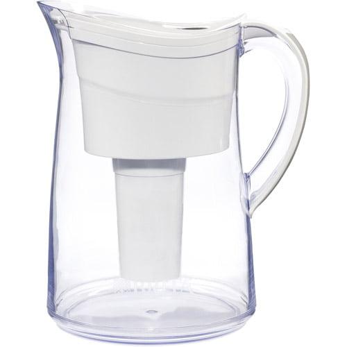 Brita Vintage Complete Water Filtration Pitcher, White, BPA Free