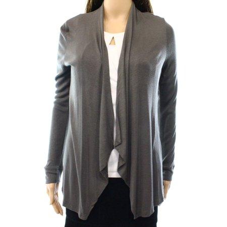 INC NEW Gray Knight Womens Size Medium M Flyaway Knit Bolero Shrug Knit Bolero Shrug