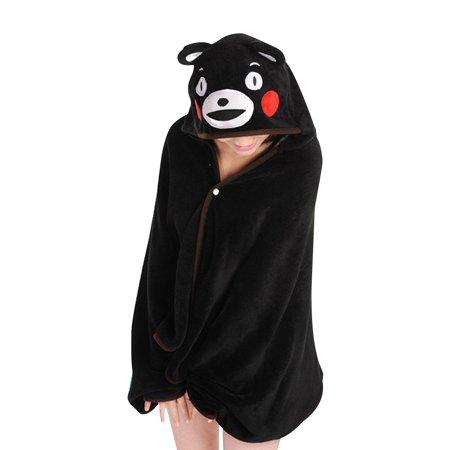 KINOMOTO Anime Cosplay Flannel Cloak Cape Hoodies Coat Daily Nap Throw Shawls Blanket Quilt (Kumamon)